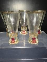 4061レトロ カラフルグラス 5コセット