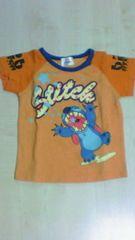 95センチ ディズニー スティッチ (Stitch) オレンジ 半袖Tシャツ 中古