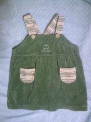 80ホットマンタオル地モスグリーンジャンパースカート