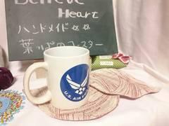 993★ハンドメイドコースター★葉っぱの形★2枚セットA