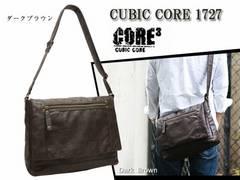 CUBIC CORE 1727 ヨコ型ショルダーバッグ(L) Dブラウン