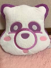 AAA え〜パンダ ふさふさフェイスクッション【宇野実彩子】紫