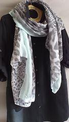 デュラス 黒 シャツ ワンピース ディー ホリック レオパード スカーフ 新品