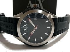 極希少 1スタ予★アルマーニエクスチェンジ 箱付 大型腕時計
