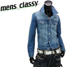 新品 デニムジャケット Gジャン カジュアル ブルー 3L