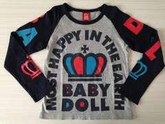 BABY DOLL☆ロンT☆グレー×ネイビー