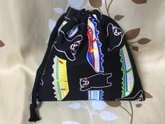 ハンドメイド/くまモン(黒)/コップ袋