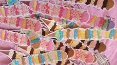アイスタワー20枚★ハンドメイドフレークシールスイーツチョコ苺ミントミックスコラージュほぼ日手紙