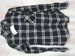 新品♪ユニクロ♪チェック長袖シャツS黒系