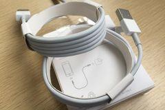 【純正品質加工】2m iPhone6s/6 plus/SE/ipad pro USBケーブル
