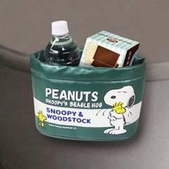 【スヌーピー】可愛い取付簡単車内の小物入に便利♪ドライブポケット