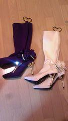 ジーザスディアマンテ薔薇ブーツ/サイズS/二足セット