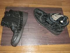 メッシュ黒ショートスニーカーブーツ600g*用2送料¥600