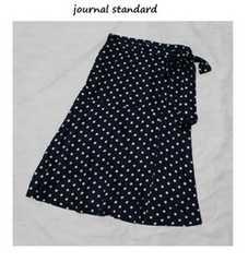 ジャーナルスタンダード*journal standardレーヨンサテン*ドットラップスカートused