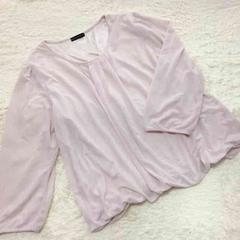 *c.a*大きいサイズ3L☆シースルーシフォンシャツ☆ピンク☆162