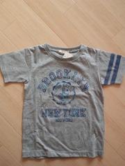 新品 グレーTシャツ110