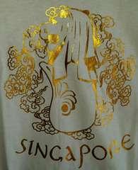 未使用シンガポールマーライオンTシャツLレディース