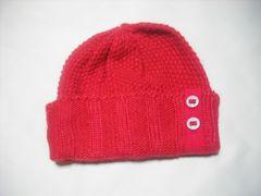 wb670 ROXY ロキシー ニット帽 ビーニー 赤