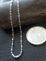 イタリア製シルバー 925チェーン 1.5mm45cm 3.5g *bead1+1/150