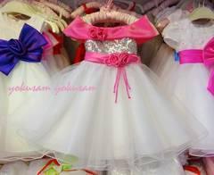 豪華★スパンコールのキラキラドレス140★結婚式発表会