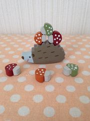 木製 バランスゲーム ハリネズミ