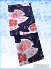 【和の志】女性用浴衣◇Fサイズ◇紫系・古典柄◇125