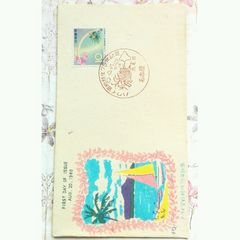 ハワイ官約移住75年記念◆虹と桜◆ハワイ海岸風景◆名古屋 特印