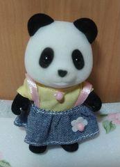 シルバニアファミリー パンダの女の子 美品
