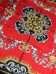 レトロ大判ジルクスカーフ赤色