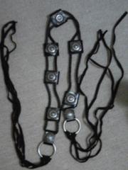 新同moussy本革ベルベットカッコイイバックル飾り付ブラックベルト最終値下