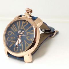 1番人気★クラブフェイス★青イタリアンデザイン腕時計メンズ