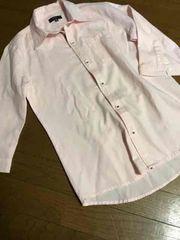 未使用インプローブス ピンクシャツ七分袖L
