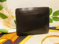 ボッテガヴェネタ二つ折財布ブラウンレザー