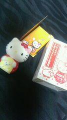 新品未使用Hello Kitty非売品屏風入り干支マスコットハローキティ