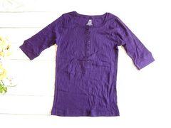 新品 USA輸入 インポート FADED GLORY ヘンリー Tシャツ 紫