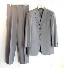 size48☆美品☆アルマーニ サマーウール製3釦スーツ