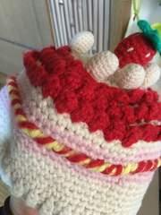 ブーフーウー*BOOHOMES*まるでケーキ ニット帽*M
