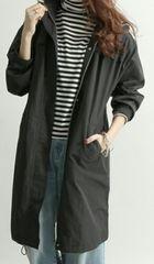 ☆新品WEGO黒ロングマウンテンパーカー☆F