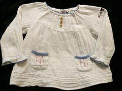 ミキハウス〓くまちゃん刺繍〓チュニック風長袖カットソー〓90