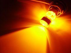 12v24v/BAU15s/ピン角150°S25/CREE製LEDアンバー2球/ウィンカー