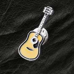 送料無料 アコースティックギター ラペルピン ピンバッジ ブローチ アコギ