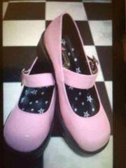 新品 レディースシューズ ピンク pink エナメル 24�p 靴 くつ