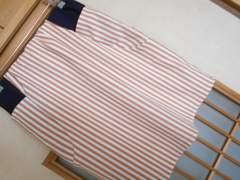 100スタ*ヘザー*ストライプタイトスカート☆クリックポスト164円