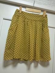 ロぺピクニックM38シフォンドット柄ふんわりスカートカラシ色