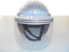 生産終了品00's OGK FACILE UV-5ヘルメットセミジェット型UV-5銀