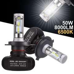 H4 LEDヘッドライト Hi/Lo 車検対応 50W 8000LM 6500k