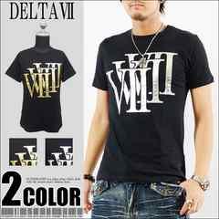 メール便送料無料【DELTA】Tシャツ70679新品黒銀L