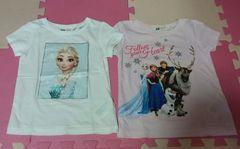 H&M☆アナと雪の女王Tシャツ2枚☆size100くらい