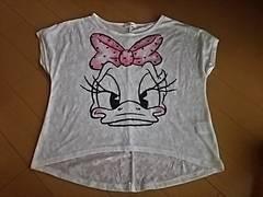 Disneyデイジー重ね着用半袖TシャツL