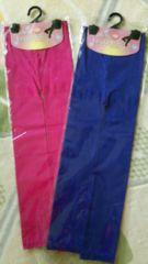 新品カラーレギンス7分丈ブルーピンク2セット